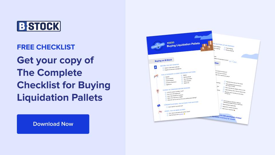 lista de verificación completa para la compra de paletas de eliminación